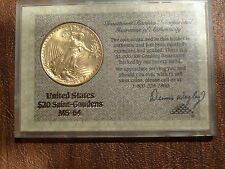 1924 $20 St. Gaudens Double Eagle Gold Coin Premium Quality