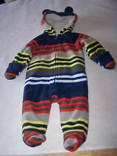 BABY OLD NAVY FOOTED, FLEECE HOODED BUNTING SIZE 3-6 MONTHS UNISEX