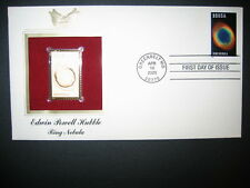 2000 EDWIN POWELL HUBBLE RING NEBULA 22kt Gold Golden Cover Replica FDC Stamp