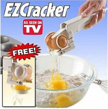 EZ Egg Cracker Handheld York & White Separator On TV Kitchen Gadget Tool