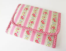 Handmade baby travel changing mat for bag -Cath Kidston Pink Lace & Oilcloth