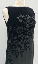 RALPH LAUREN Black Silk Blend Velvet Burnout Women's   Formal Dress Size 8 Maxi