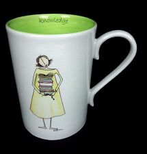 Knowledge Cup Mug Librarian 2005 Claire Stoner for Demdaco Books Coffee Tea Cup