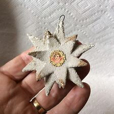 OLD CHRISTMAS CARDBOARD STAR AND ANGEL ORNAMENT