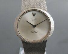 100% Authentic ROLEX GENEVE Cellini Hand Wind Ladies Watch 19J Cal.1600 K18 750