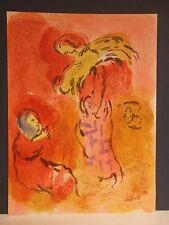 "Marc CHAGALL/Dessins pour la Bible ""ruth the Glean"" ORIG. Lithographie v. 1960."