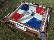 Domino Tables by Art with Dominican Flag