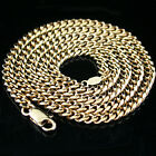 "New 4mm Rounded CURB Link 24"" Gold GL MENS Necklace 