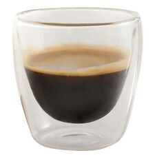 Set of 6 Handmade Double Wall Glass Insulated Espresso Coffee Cups 3.4oz- JECOBI