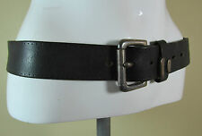 Vintage Smithy Blue inc black classic style leather belt fashion belt S/M R15136