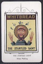WHITBREAD-INN SIGNS 1958- THE STARTLED SAINT (M1) - SCARCE CARD!!!