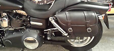 SADDLE BAG FOR HARLEY DAVIDSON DYNA FAT BOB FXDF ITALIAN QUALITY LEATHER&STYLE