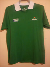 HEINEKEN RUBGY UNION SHIRT WORLD CUP NEW ZEALAND 2011 SIZE L NUMBER 11 GREEN VGC