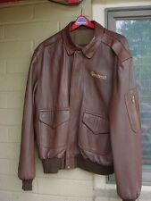 Perrone Fine Aviation Apparel Men's Size 44 Leather Beechcraft Jacket A2 G1 USA
