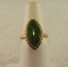 VINTAGE 10K SOLID GOLD JADE OR JADITE RING. SIGNED PSCO 2.5 GRAMS TOTAL