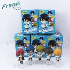 Cute ! 5pcs JP Anime Free! Iwatobi Swim Club  6cm PVC Figure Toy Set With Box