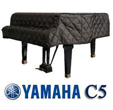 """Yamaha Grand Piano Cover C5 Black Quilted Cover 6'7"""" C5E, C5F, DS5"""