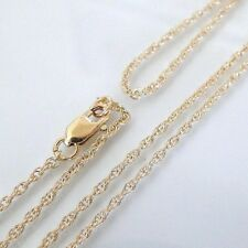16 Inch 14k Gold Filled 1.3mm Rope Chain Necklace Assembled by Hand
