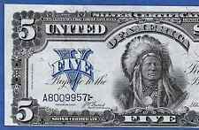 1899 $5 SILVER CERTIFICATE ♚♚ INDIAN CHIEF ♚♚ HIGH GRADE!!!    VERY BRIGHT&CRISP