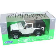 WELLY 22489 2007 JEEP WRANGLER 1/24 DIECAST MODEL CAR WHITE