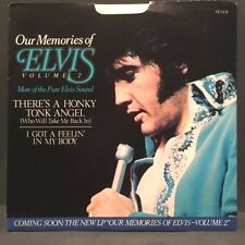 "Elvis Presley ""There's a Honky Tonk Angel"" RCA 45rpm w/ PS EX Cond. Store stock"