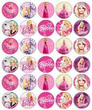 Barbie Cupcake Toppers Edible Paper BUY 2 GET 3RD FREE