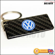 VW SOLID CARBON FIBRE KEYRING chain badge for gti golf polo transporter scirocco