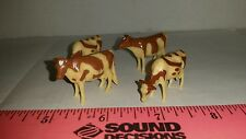 1/64 ERTL FARM TOY QTY OF 4 ASSORTED Guernsey DAIRY COWS CATTLE 4 UR DISPLAY