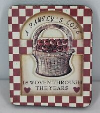 """A Family's Love is Woven Through The Years 3"""" x 2.5"""", Wood, Magnet #842419"""