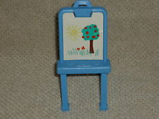 Fisher Price Loving Family Dollhouse Blue Art School Easel with Tree