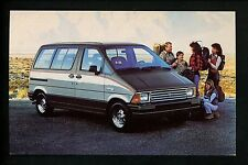 Car Auto Advertising postcard Ford Aerostar Wagon van 1990's