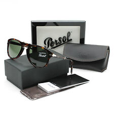 Persol 714 Folding Sunglasses 24/31 Havana Brown / Grey Green PO0714 52 mm