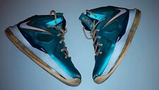$199 Nike Lebron X GS Dolphins 543564-302 Atomic Teal Orange Kids BOYS YOUTH