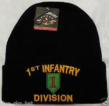 U.S. ARMY 1ST INFANTRY DIVISION BIG RED ONE WATCH CAP KNIT BEANIE WINTER SKI HAT