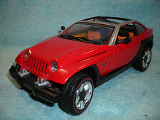 1/18 1999 JEEP (JEEPSTER) CONCEPT IN RED BY MATCHBOX NO BOX.