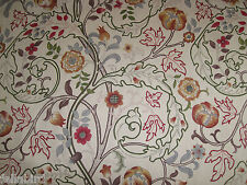 "WILLIAM MORRIS CURTAIN FABRIC ""Mary Isobel"" 0.90 METRE ROSE/SLATE DM3F220626"