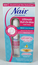 Nair Ultimate ROLL-ON Wax for FACE Moroccan Argan Oil MAX Hair Remover NIB