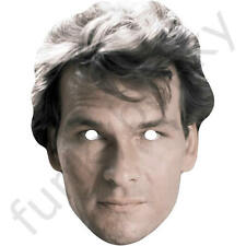 Patrick Swayze 1980s Retro Actor Card Mask - All Our Masks Are Pre-Cut!