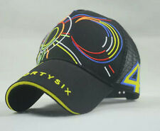 Cool Valentino Rossi Large 46 Moto GP Baseball Black Peaked Cap Net Hat Sun Moon