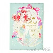 Little Mermaid Notebook schedule book 2017 Ariel DISNEY STORE JAPAN