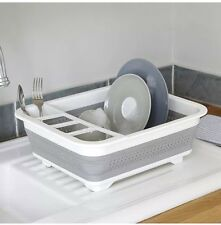 New Collapsible & Portable Plate & Cup Dishrack & Drainer