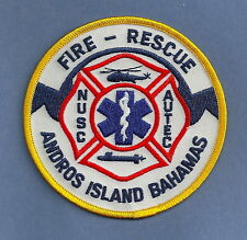 ANDROS ISLAND BAHAMAS NAVAL UNDERSEA SYSTEMS CENTERA FIRE RESCUE PATCH
