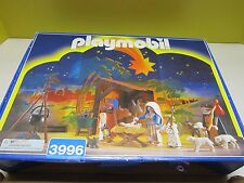 HTF Retired 1999 PLAYMOBIL Christmas Nativity Set 3996 99% Complete w/box & Box