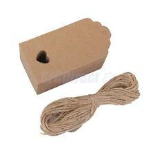 100 Brown Kraft Label Paper Tags Business Card Name Note Tags Wedding Favor