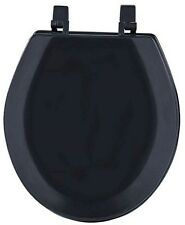 HARD WOOD STANDARD ROUND TOILET SEAT - BLACK