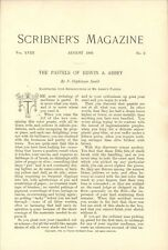 1895 Edwin A Abby PASTELS Vintage Article Illustrations