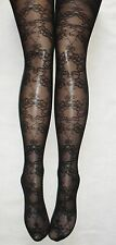 BEAUTIFUL BLACK  LACE FLORAL NET TIGHTS BURLESQUE PANTYHOSE