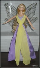 DRESS SILKSTONE BARBIE DOLL FAIRYTOPIA ENCHANTRESS FAIRY GOLD TRIM WINGED GOWN