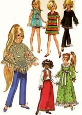 Vintage Doll Clothes PATTERN 9138 for 17.5 in Velvet and Crissy by Ideal