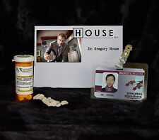 "TV SERIES HOUSE MD REPLICA PROP ""GREGORY HOUSE"" VICODIN BOTT:E AND HOSPITAL ID"